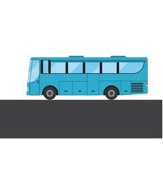Blue bus picture vector