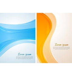 Bright waves design vector image
