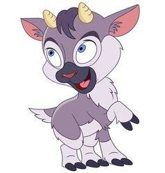 cute cartoon little goat vector image