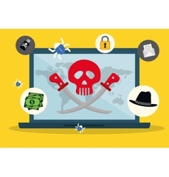 Digital fraud and hacking design vector image vector image
