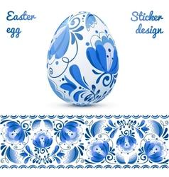 Easter eggs sticker design template vector image