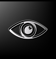 Eye sign gray 3d printed vector