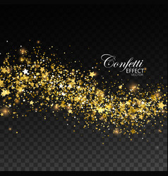 glittering golden stream of sparkles vector image vector image