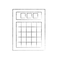 lotery board isolated icon vector image vector image