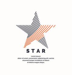 Modern logo star in a futuristic style vector