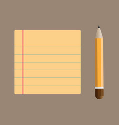 Notepad with bookmarks and pencil vector