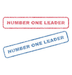Number one leader textile stamps vector