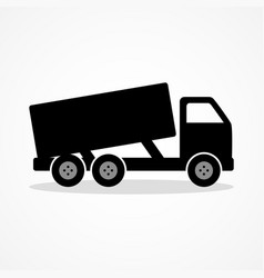 Simple icon of a dump truck vector