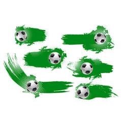 Soccer ball banner of football championship design vector