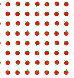 Strawberry seamless pattern design element vector image vector image
