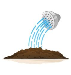 Watering Ground vector image