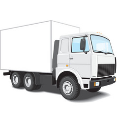 white truck vector image vector image
