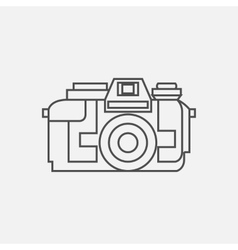 Photo camera icon in line style vector