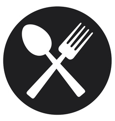 Crossed fork and spoon vector image