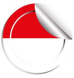 Indonesia flag sticker design vector