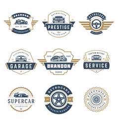 Car logos templates design elements set vector