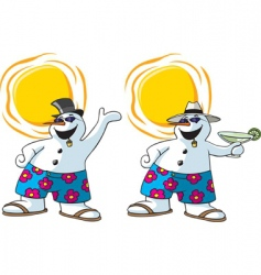 frosty snowman vector image