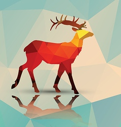 Geometric polygonal deer pattern design vector