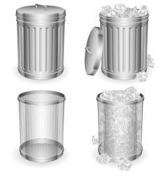 Trash cans vector