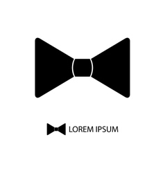 Black bowtie as logo vector image