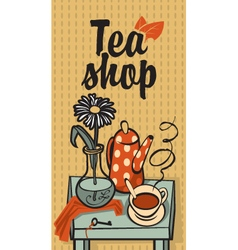 tea shop vector image
