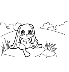 bunny cartoon coloring pages vector image