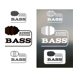 Music audio systems logo badge label logotype vector