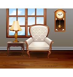Living room with luxury chair and furniture vector