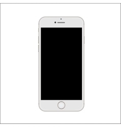 New version of white slim smartphone vector