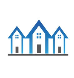 Three houses vector