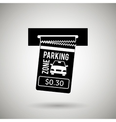 Parking sign design vector