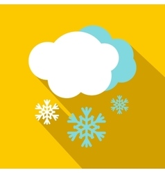 Snow and cloud icon flat style vector