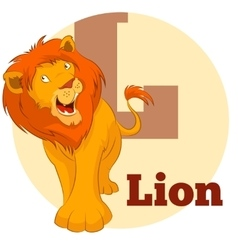 ABC Cartoon Lion3 vector image vector image