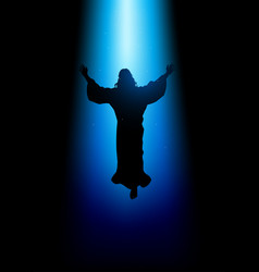 Ascension of jesus christ vector