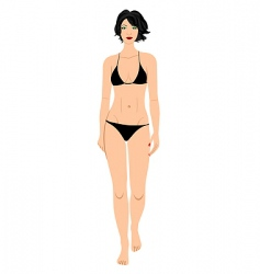bathing suit beauty vector image