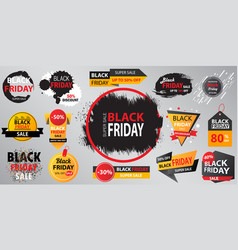 black friday sale collection banner with vector image