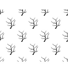 black tree stripped bare on white background vector image vector image