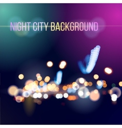 Blurred defocused lights of city traffic vector image