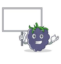 Bring board blackberry character cartoon style vector