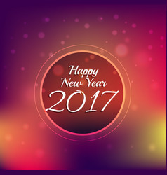 colorful bokeh background with 2017 new year text vector image