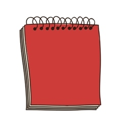 Colorful notebook of spiral in red vector