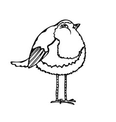 Cute adorable bird isolated on a white background vector