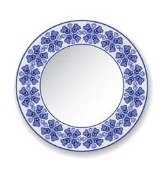 Decorative plate with a pattern vector image vector image