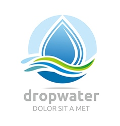 Drop water pure shapes symbol design icon vector