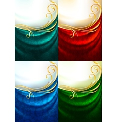 fabric curtain ornament vector image vector image
