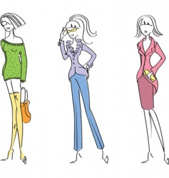 fashion girl2 vector image vector image