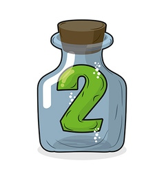 Figure two in laboratory bottle Figure 2 in the vector image