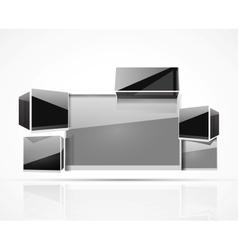 glass 3d boxes presentation design vector image