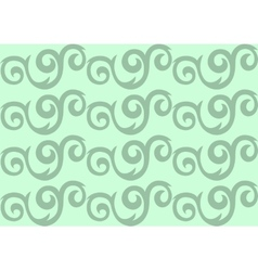 Green ornate seamless pattern vector image vector image