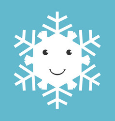 happy snowflake character vector image vector image